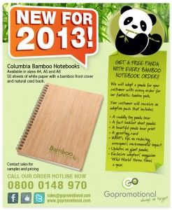 GoPromotional - Bamboo Notebook Mailer