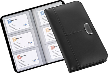 Product spotlight branded business card holders gopromotional gopromotional atlanta business card wallets reheart Images