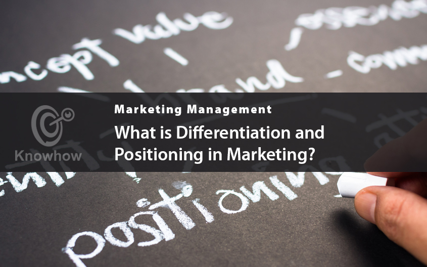 What is differentiation and positioning in Marketing?
